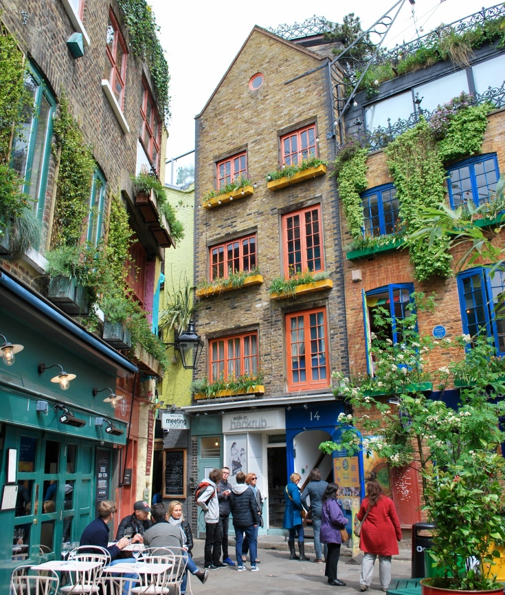 Colorful photo of Neal's Yard in London, England