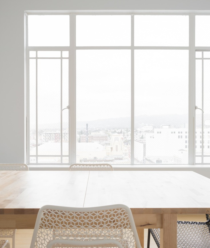 Minimalist dining table with chairs